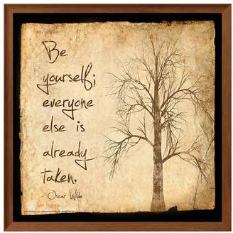 "Art.com Be Yourself"" Framed Wall Art"