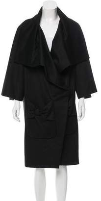Viktor & Rolf Wool Bow-Accented Coat