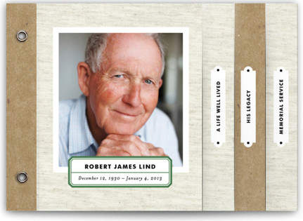 Kraft and Linen Memorial Minibooks