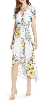Leith Everyday High/Low Wrap Dress