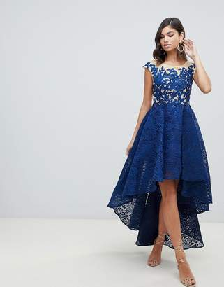 Forever Unique embellished hi low prom dress