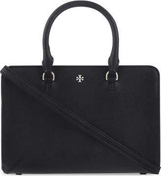 Tory Burch Robinson small saffiano leather tote $470 thestylecure.com