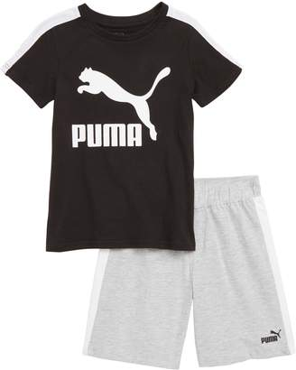 Puma Logo T-Shirt & Shorts Set