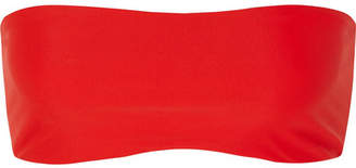 JADE SWIM All Around Bandeau Bikini Top - Tomato red