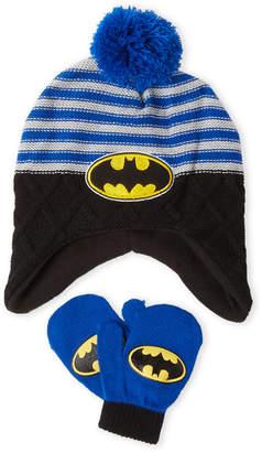 Berkshire Fashions (Toddler Boys) Batman Hat & Mittens Set