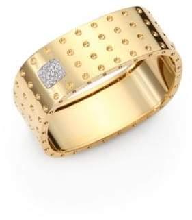 Roberto Coin Pois Moi Diamond& 18K Yellow Gold Four-Row Bangle Bracelet