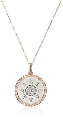 "10k Rose Gold Diamond Accent "" You Are My Sunshine"" Pendant Necklace"