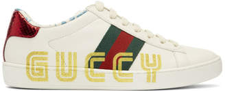 Gucci White New Ace Guccy Sneakers