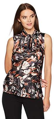Nine West Women's Printed Bow Blouse