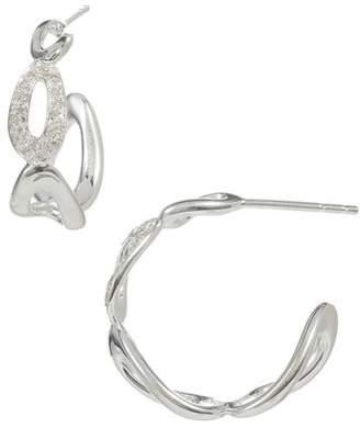Ippolita Cherish Diamond Pave Link Hoop Earrings