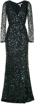Rachel Gilbert sequins gown