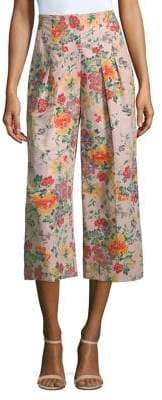 Rebecca Taylor Marlena Floral Cropped Pants