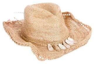 Flora Bella Florabella Embellished Raffia Hat