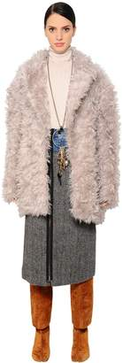 Maison Margiela Fur Effect Mohair Coat