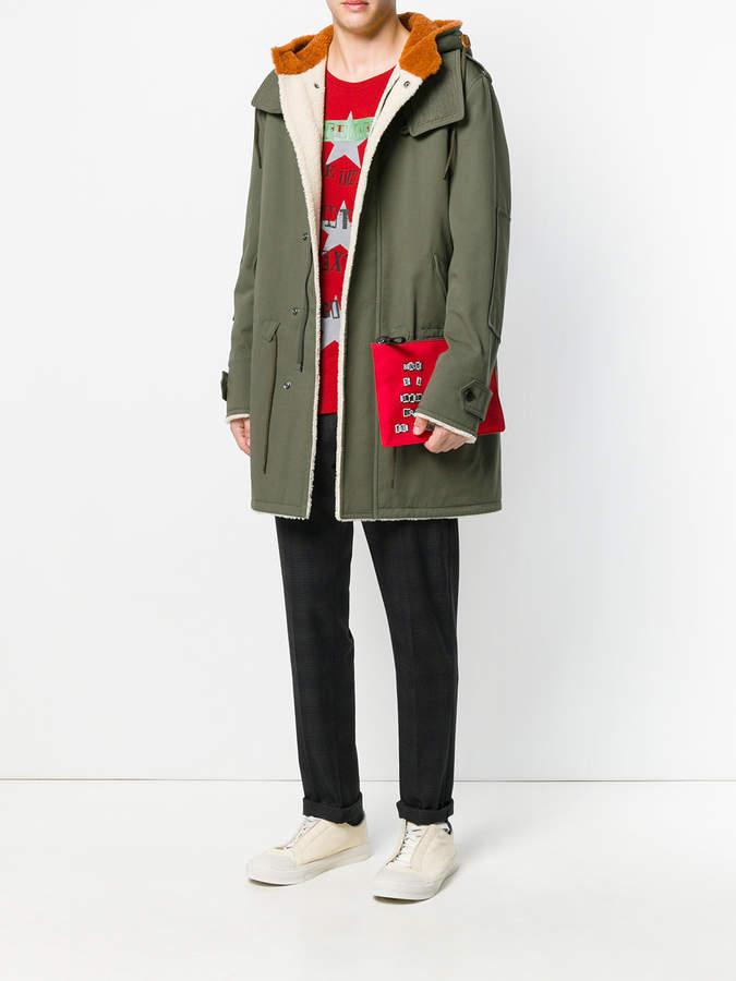 65ff879fb6 Valentino appliquéd clutch - ShopStyle Bags