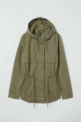 H&M Short Cotton Parka - Green