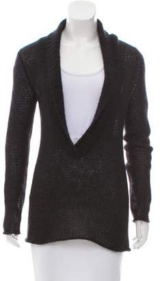 Theory Plunging Neck Long Sleeve Sweater