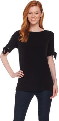 Susan Graver Liquid Knit Short Sleeve Top