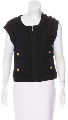 St. John Zip-Up Knit Vest