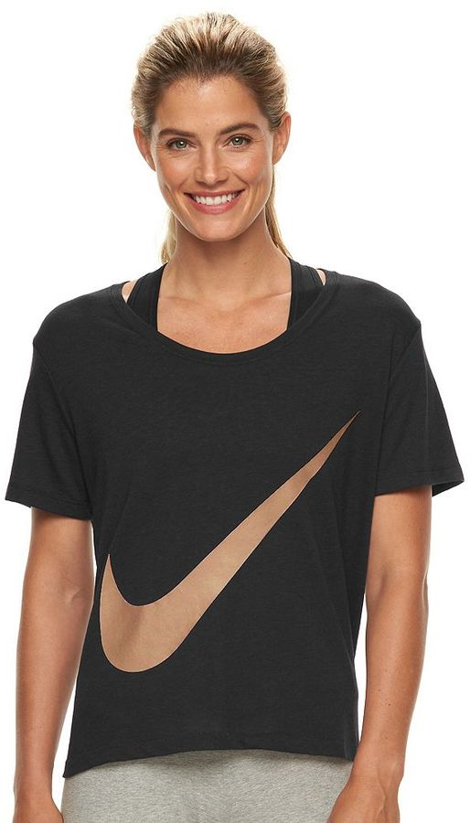 Women's Nike Swoosh Drop Shoulder Graphic Tee