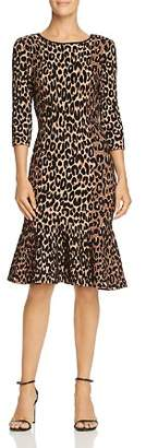 905a24abad ... Milly Textured Leopard-Print Dress