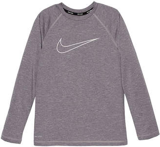 Nike Long Sleeve Logo Rash Guard-Boys 8-20