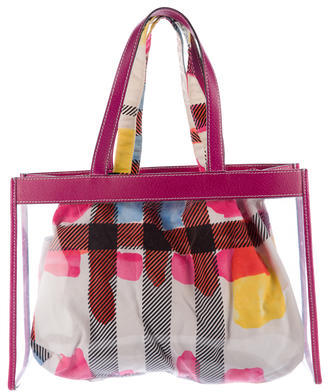 Burberry  Burberry Leather-Trimmed PVC Tote