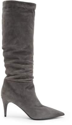 Prada Mid-heel suede knee-high boots