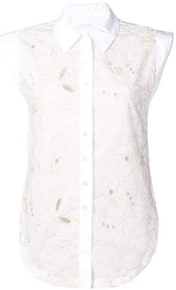 See by Chloe floral embroidered sleeveless blouse