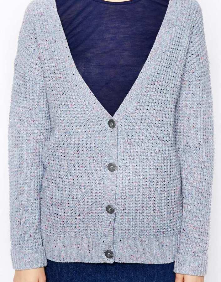Asos Stitch Detail Cardigan In Nep
