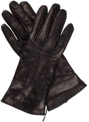 Saint Laurent Leather Cashmere-Lined Gloves