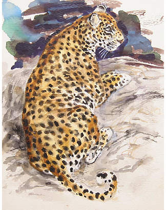 One Kings Lane Vintage Leopard by Marshall Goodman - RoGallery Art