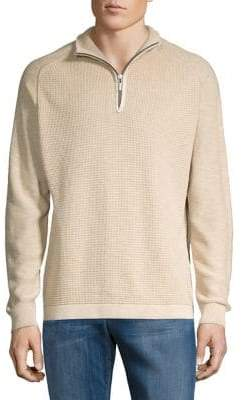 Tommy Bahama Island Tide Half-Zip Cotton Sweater