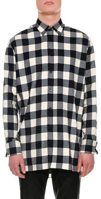 Versace Buffalo Check Flannel Shirt