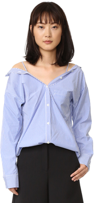 Theory Tamalee Blouse $265 thestylecure.com