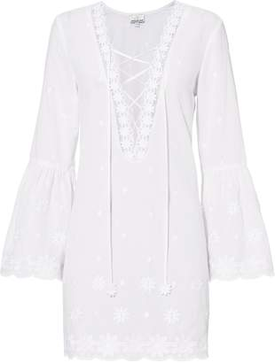 Miguelina Laure Lace-Up Mini Dress