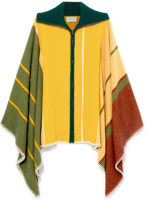 Holzweiler - Striped Wool And Cashmere-blend Poncho - Yellow