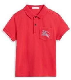 Burberry Little Boy's& Boy's Logo Cotton Pique Polo