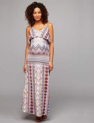 Tart Tiered Maternity Maxi Dress- Print