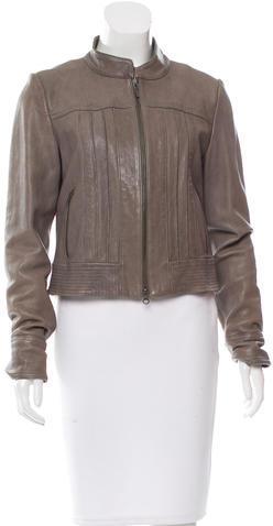 Haute HippieHaute Hippie Leather Long Sleeve Jacket