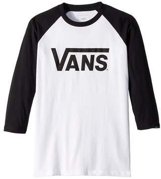 Vans Kids Vans Classic 3/4 Sleeve Raglan Boy's Clothing