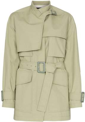 Joseph Warrwick belted short cotton trench coat