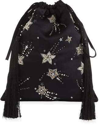 ATTICO Beaded Star Drawstring Pouch Bag