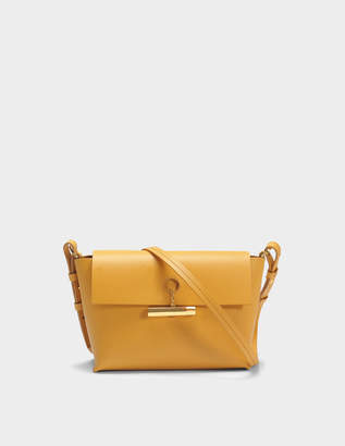 Sophie Hulme The Pinch Crossbody Bag in Dark Butter Cowhide Leather