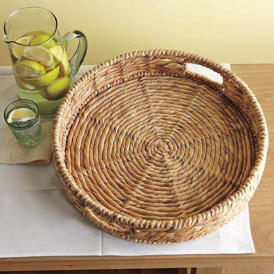Natural Woven Closed Weave Tray