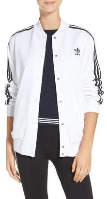 Women's Adidas 3-Stripes Bomber Jacket $90 thestylecure.com