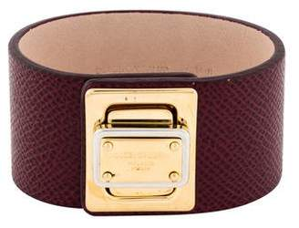 Dolce & Gabbana Leather Turn-Lock Bracelet