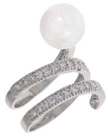 Michela Pearl and Rhinestone Ring