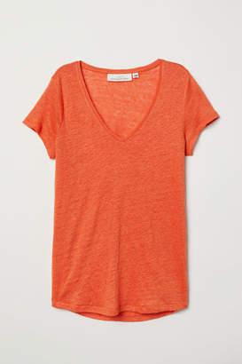 H&M Linen Top - Orange