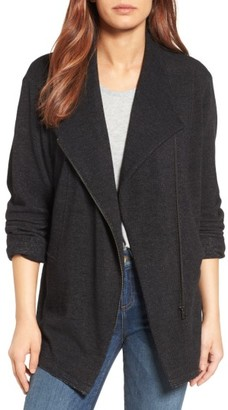 Women's Caslon Knit Moto Jacket $79 thestylecure.com